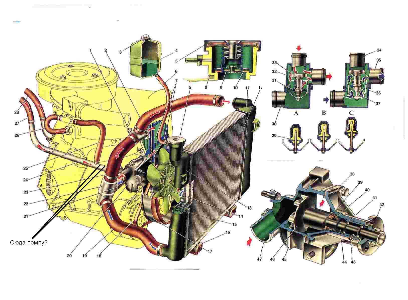 Вентилятор охлаждения радиатора нива 21214 схема